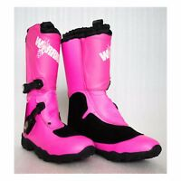 Motocross Boots Kids/Youth sizes MX boots, dirt bike/quad bike, protection, PINK
