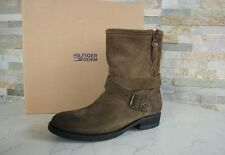 TOMMY HILFIGER Gr 35 Stiefel Stiefeletten Schuhe shoes dusty olive NEU UVP 199€