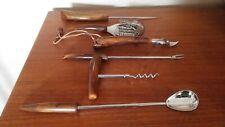 Vintage set Of 6 Bartender Bar Tools Bakelite Style Handles