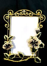 Art Nouveau Style Enamel on Metal Floral Design Rhinestones Photo  PICTURE FRAME