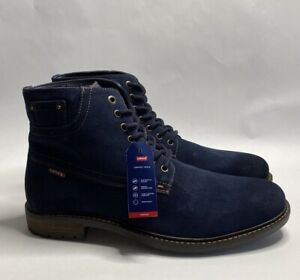 LEVI'S Performance Sheffield Blue Suede Comfort Work Boots Size 11 M