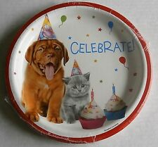 """Luncheon Paper Plates BIRTHDAY PETS 10 Ct 8 3/4"""""""