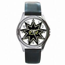Bahai Faith 9 Point Star Nine Pointed Star Religion Leather Watch New!