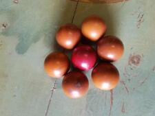 7 antique German bakelite catalin balls 725 grams - 0,1598 lb (s21945)