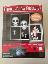Mr. Christmas Virtual Holiday Projector Kit preloaded & use your music picts