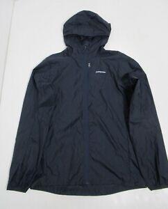 Patagonia Women's Houdini Jacket Lightweight Nylon Navy Blue Size M Full Zip