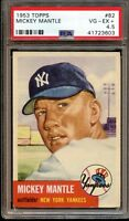 1953 Topps #82 Mickey Mantle New York Yankees PSA 4.5 VG-EX+ SHARP CENTERED