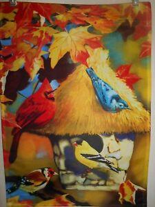 "Autumn Gathering  Garden Flag  12"" X 18"" ! !"