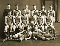 "1920 Kansas University Basketball Team Vintage Old Photo 8.5"" x 11"" Reprint"