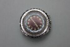 Sehr große Astrée Watch Weltzeituhr mit Zeitzonen und Tachymeterskala, um 1970