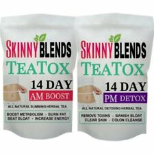 14 DAY SKINNY FIT DETOX TEAS & INFUSER - SLIM DOWN BOOST METABOLISM BURN FAT