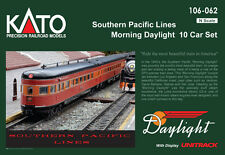 kato 106-062 SOUTHERN PACIFIC  DAYLIGHT 10 car set (OPTIONS)