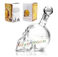 Bouteille Crâne de Cristal Head Vodka Verre Whiskey boire du vin Decanter cadeau