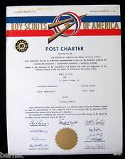 1964 BOY SCOUT - POST CHARTER - POST 161- MOUNT CARMEL, PENNSYLVANIA
