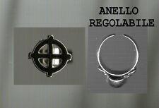 ANELLO DARK SMALTO NERO REGOLABILE  trendy anello SKULL TESCHIO ring MARIUANA