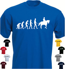 Human HORSE RIDER Evolution New T-shirt