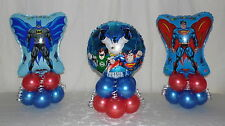 3 PACK AVENGERS - BATMAN - SUPERMAN - HEROES - BALLOON DISPLAY-TABLE CENTREPIEC