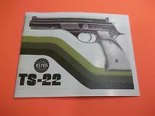 ASTRA TS-22 SEMI-AUTO PISTOL OWNERS  MANUAL, seven pages of information