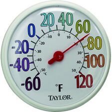 """Taylor Precision Indoor & Outdoor Thermometer, 13-1/2"""" Diameter"""