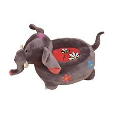 Liberty House Toys Plush Elephant Animal Ride-on Seat Fabric Grey