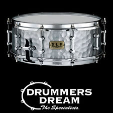 "Brand New Tama SLP 14"" x 5.5"" Vintage Hammered Steel Snare Drum LST1455H"