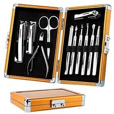 Familife Stainless Steel 12Pc. Manicure Pedicure Set Gold Luxury Gift Box Groom