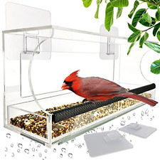 New listing Window Bird Feeders with Sliding Feed Tray for Outside, Never Falling Off, Large