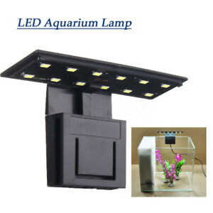220V 12 LED 5W Aquarium Lamp Clip Plant Grow Light Lighting For Fish Tan