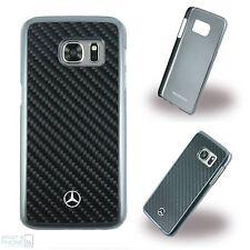 MERCEDES Benz in puro carbonio Custodia Rigida Cover Custodia Protettiva Samsung Galaxy s7 Nero