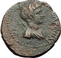 Hierocaesarea in Lydia 54AD Capito Nero Artemis Stag Ancient Greek Coin i58422