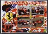 2005 ferrari formula 1 miniature sheet 4 values car racing 402354