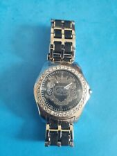 Marc Ecko Men's Watch Silver Tone Black Rhino E95016G7.NEVER USED.NEEDS BATTERY