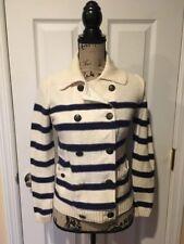 6c8ba41e34 Lauren Ralph Lauren Jeans Petite Double Breasted Sweater Cardigan Striped  S P