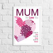 10 raisons pourquoi je vous aime Mères Jour Cadeau Personnalisé Maman Mum Nan Nourrice