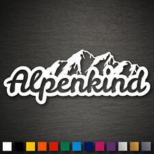 14247 alpenkind autocollant 200x75mm Alpes montagnes grimper idylle ski départ tyrol