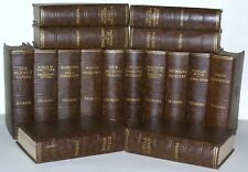 Charles Dickens 16 BOOK Set Chestnut Brown C1930's Vintage 86 YRS OLD VINTAGE