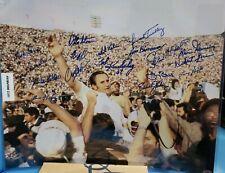 1972 SB Champions Miami Dolphins Perfect Season 16x Signed 16x20 Photo LEAF COA