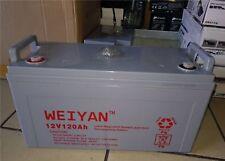 batteria 12vl per kit fotovoltaico 120 ah per CAMPER accumulo pannello solare