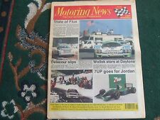 Motoring News 6 February 1991 Daytona 24 Hours Monte Carlo & Wyedean Rally