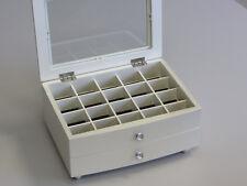 BRAND NEW WOODEN JEWELLERY GIFT BOX IN GLOSS FINISH - PEARL WHITE 046 SH/CR 1.5k