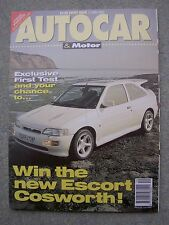 Autocar (13 May 1992) Lancia Integrale v RS Cosworth & Nissan Sunny GTiR,OX99-11