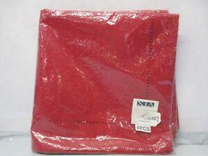 "Xia Home Fashions 21"" x 21"" Venetian Red Cloth Napkin Set of 4 - NEW- Free Shp."