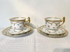 2 X Vintage Trio Tea Set By Royal Tettau Bavaria Germany.