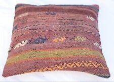 Anatolian Pillow, Home Decor Kilim Pillow Case, Turkish Pillowcase, 16''x16''