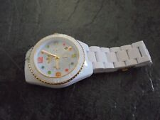 mens ADIDAS white wrist watch