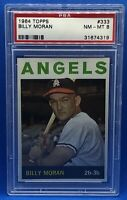 1964 TOPPS BASEBALL #333 BILLY MORAN PSA 8 NM-MT LOS ANGELES ANGELS
