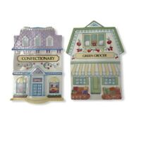 LENOX Village Collection Trivets  Wall Decor Confectionary & Green Grocer 1992