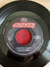 Lesley Gore 45 California Nights / That's the Way Boys Are jukebox MINT unplayed