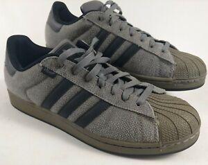 Adidas SUPERSTAR HEMP 2011 Originals 420 Cannabis Grey Olive Black Men's 11 vtg