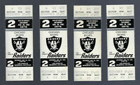 1983 NFL CHICAGO BEARS @ LOS ANGELES RAIDERS FULL FOOTBALL TICKETS WALTER PAYTON